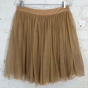 F21 Nude Tulle Skirt Full Size Large